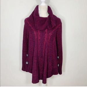 Anthropologie angel of the north Cowell neck knit